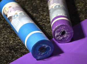 yogamatta 5 mm, yoga, lila
